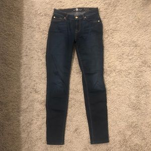 7 For All Mankind Mid-Rise Skinny